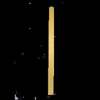 Akác kerítésléc - kapualsó (10 db, egyenes)   50 cm x 7,3 cm x 2 cm