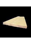 Borovi fenyő homloklap 110 cm x 20 cm x 1,7 cm