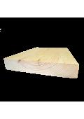 Borovi fenyő lépcsőlap forduló, 3 cm vastag (egyeztetés után)