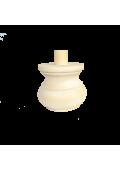 Fenyő bútorláb csappal 8,4 cm + 2,5 cm x ⌀ 10 cm