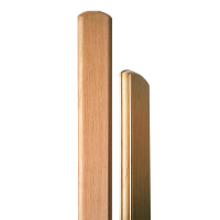 Tölgy kerítésléc (10 db, egyenes) 80 cm x 8,7 cm x 2 cm
